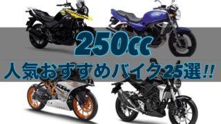 【完全版】250cc人気おすすめバイク25選!【新車・中古】